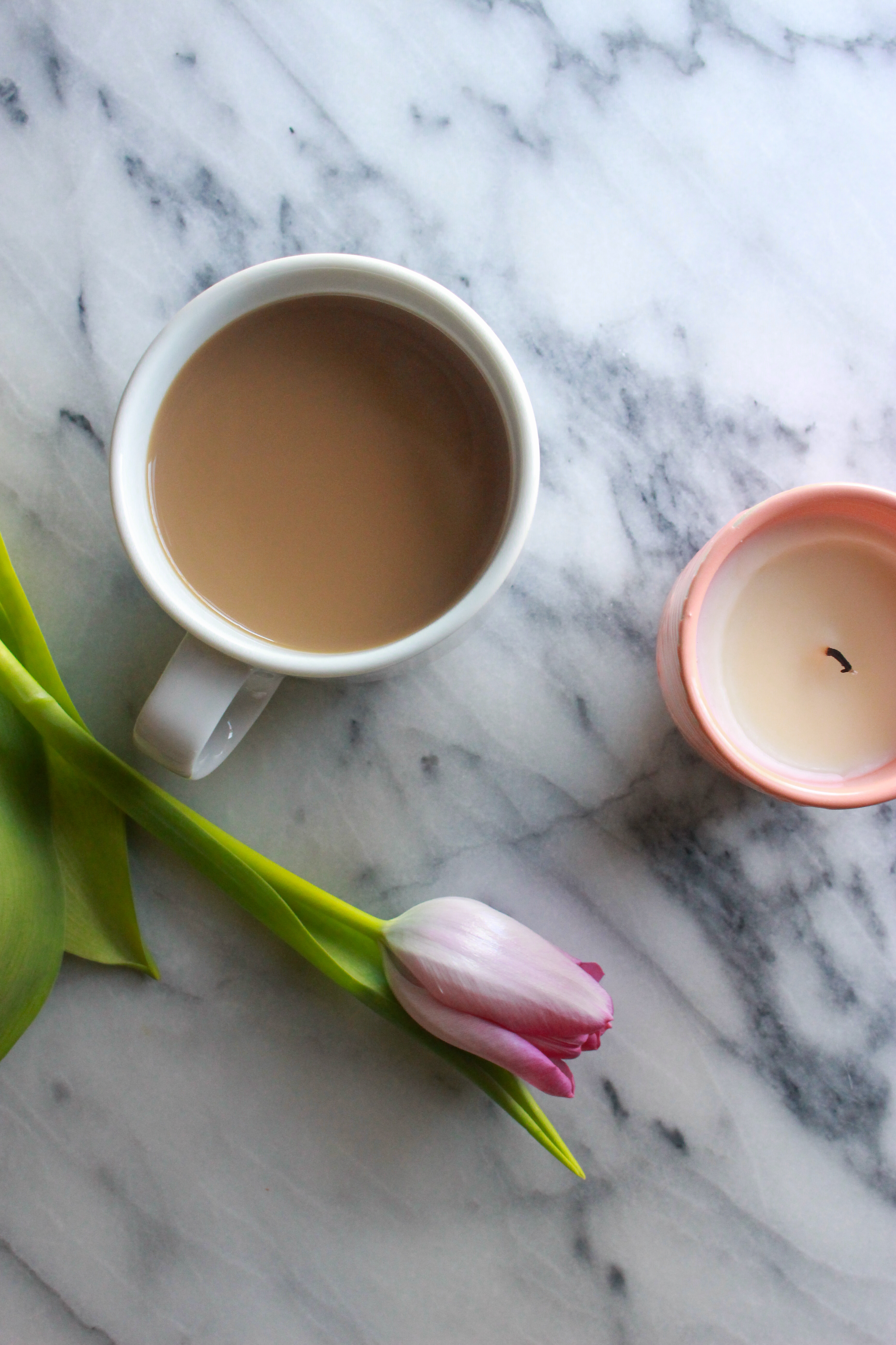 coffee, tulip, candle